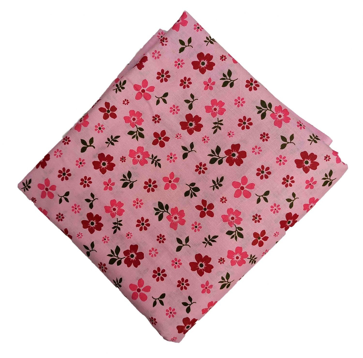 Pink Floral Print Cotton Fabric PC563 1
