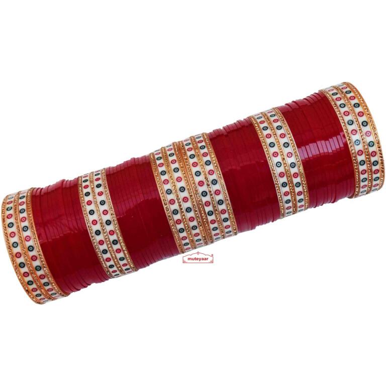 Polka Chura for Punjabi Bride CH020