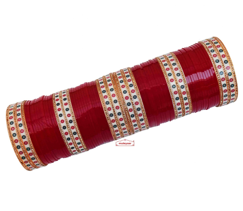 Polka Chura for Punjabi Bride CH020 1