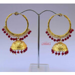 Punjabi Lotan Bali with Maroon Beads J0603
