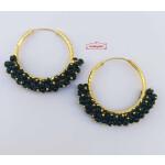 Guchha Bali Earrings with Green Beads J0605