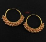 Guchha Bali Earrings with Peach Beads J0606