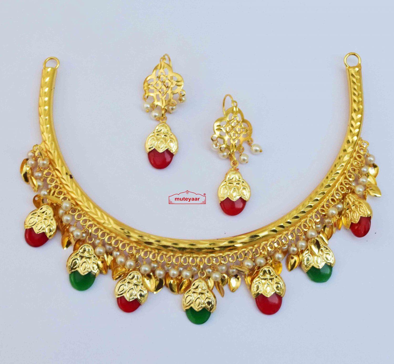 Hasli Dakh Set Punjabi Jewellery J0610 - Choose Colour 3