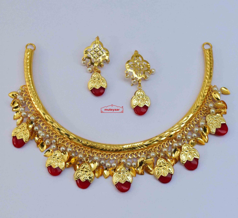 Hasli Dakh Set Punjabi Jewellery J0610 - Choose Colour 2