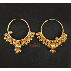 Real Gold Plated Ghungroo Bali Earrings J0614
