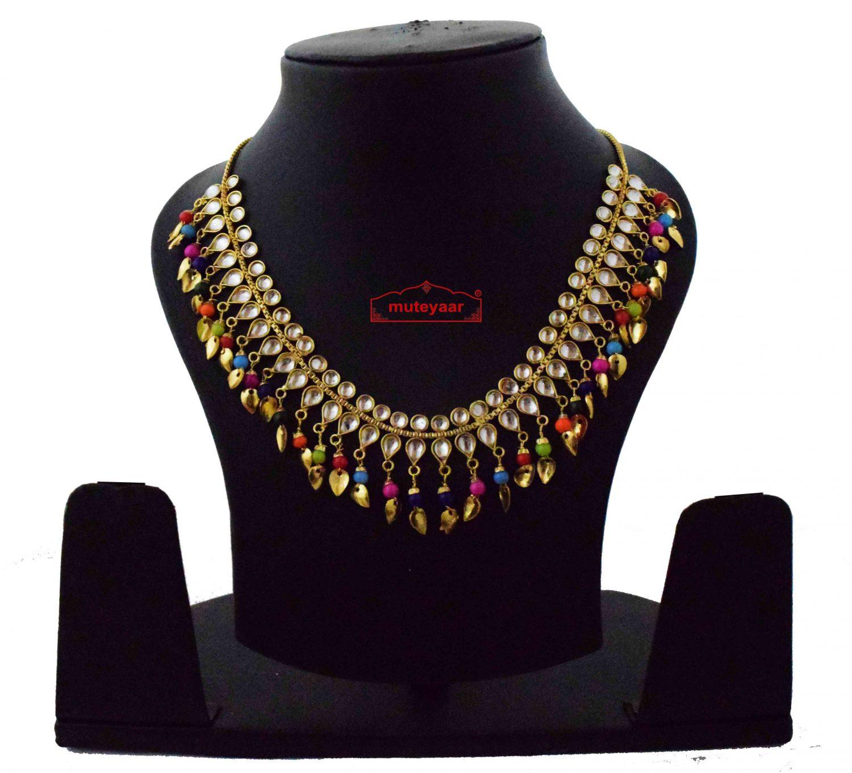 Multicolour Kundan Chain J0615 1