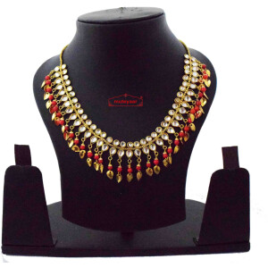 Red Kundan Chain J0616