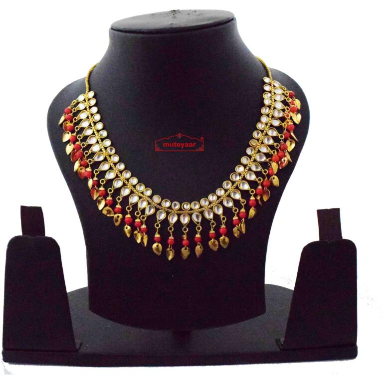 red kundan chain J0616