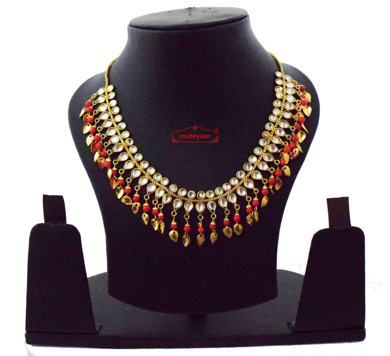 Red Kundan Chain J0616 1