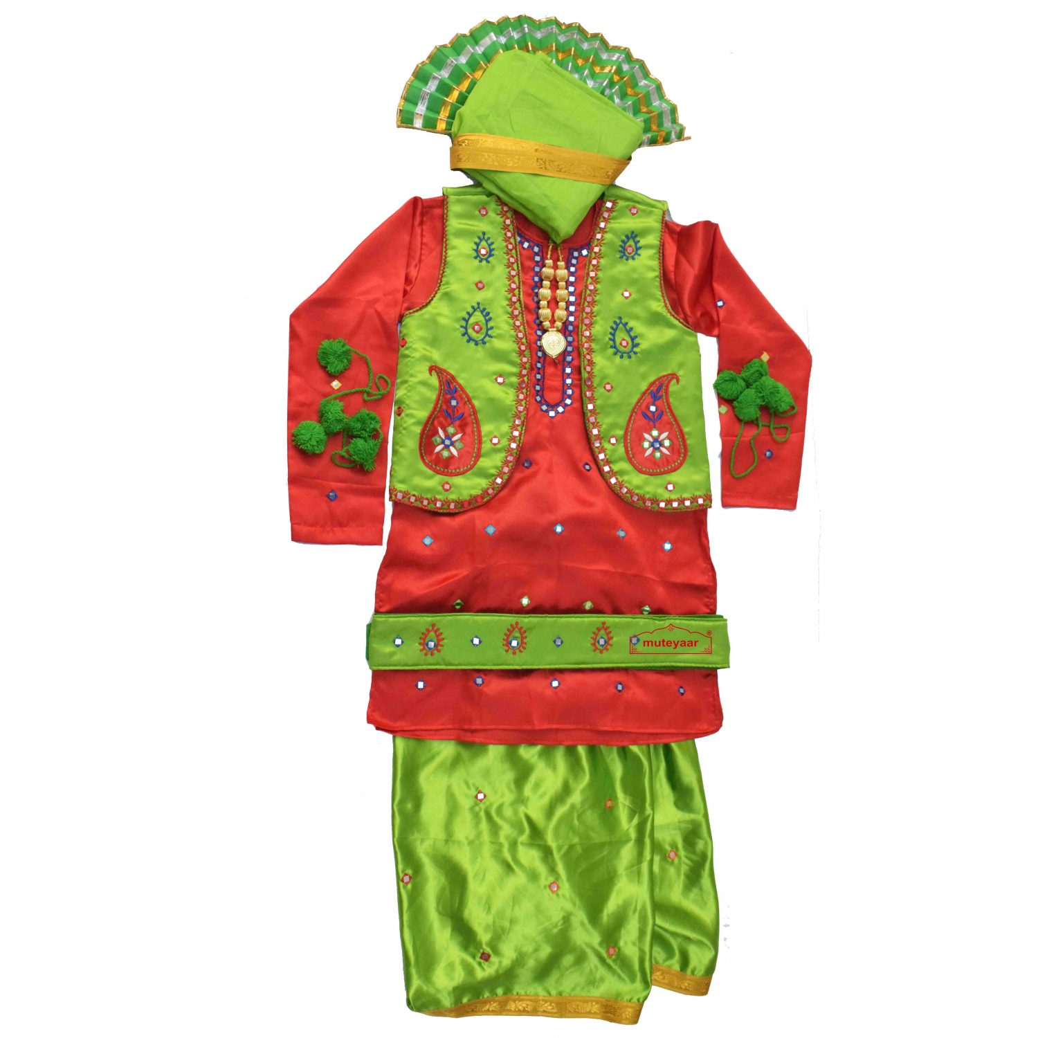 Bhangra Costume with customized embroidery 1