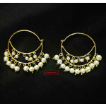 Bali with white moti beads J0625