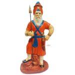 Nihang Singh Statue (Orange Colour -12 inch Size) ST001