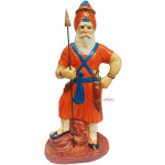Nihang Singh Statue (Orange Colour -12 inch Size) ST001