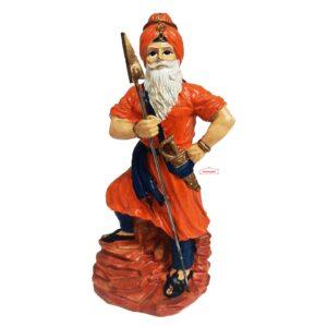 Nihang Singh Statue (Orange Colour – 8 inch Size) ST002