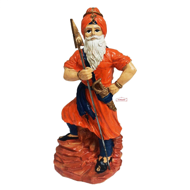 Nihang Singh Statue (Orange Colour - 8 inch Size) ST002 1