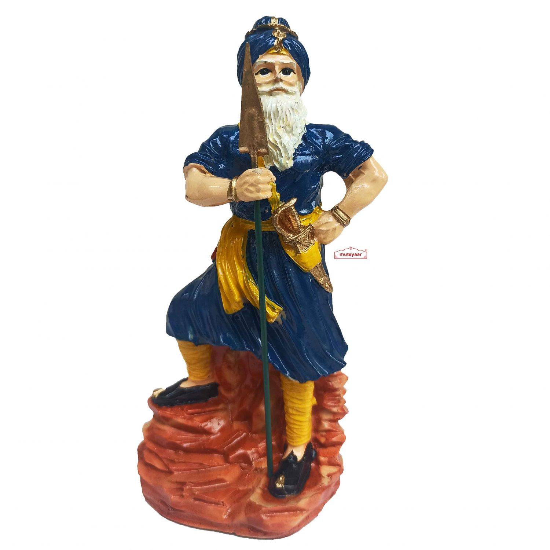 Nihang Singh Sculpture (Blue Colour - 8 inch Size) ST004 1