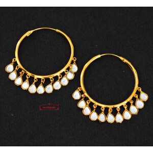 Pair of Kundan Baliyaan J0278
