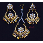 Kundan Tikka Earrings Set J0628