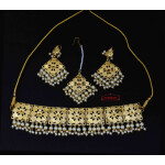 Golden Punjabi Choker Set J0629