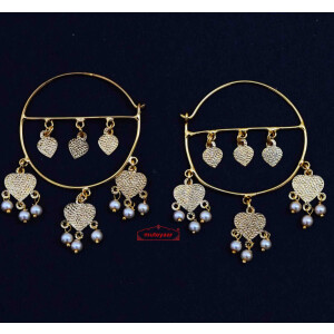 Golden Punjabi Bali Earrings J0631