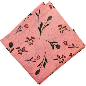 Peach Printed Pure Cotton Fabric PC567
