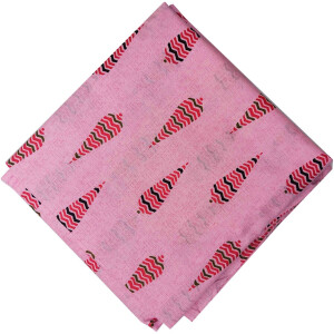 Pink Print Pure Cotton Fabric PC571