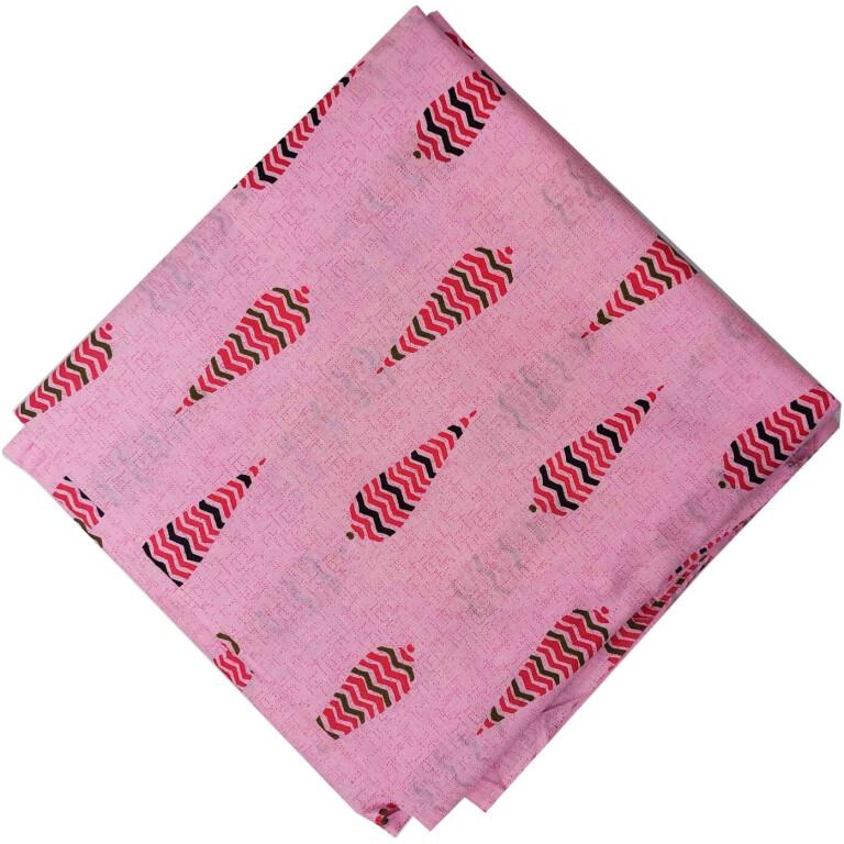 Pink Print Pure Cotton Fabric PC571