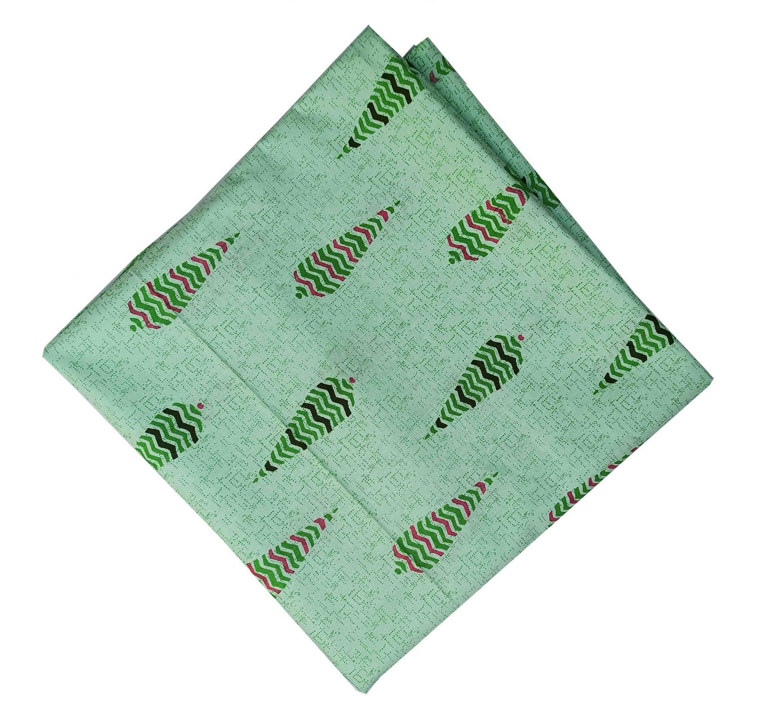 Green Print Pure Cotton Fabric PC572 1