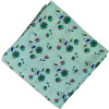 Green Floral Print Pure Cotton Fabric PC573