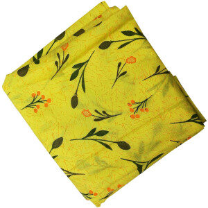 Yellow Printed Cotton Fabric PC565