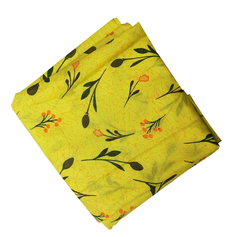 Yellow Printed Cotton Fabric PC565 1
