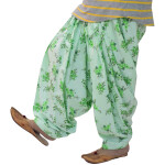 Light Green Printed 3m Patiala Salwar 3MPS13
