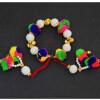 Multicolour Pompom Gana Wrist Band GN015