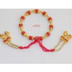 Red Golden Gana Wrist Band GN017