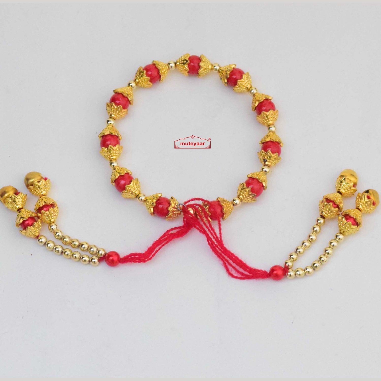 Red Golden Gana Wrist Band GN017 1