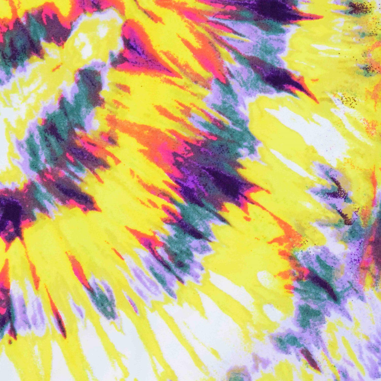 """Yellow Tie Dye Hosiery Fabric HF043 (Width 75"""") 2"""