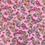 Pink Paisley Design Stretchable Hosiery Fabric HF046 (Width 83″)