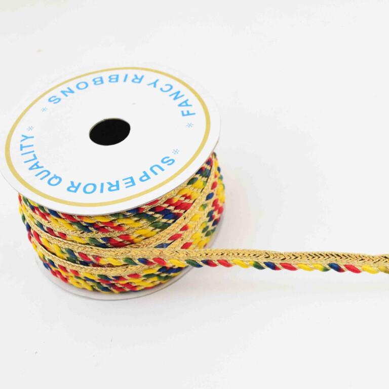 Yellow Multicolour Piping Kinari LC230