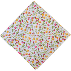 Pink Floral 100% Pure Cotton Fabric PC576