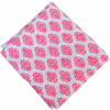 White Pink Pure Cotton Printed Fabric PC582