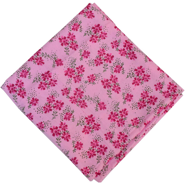Pure Cotton Pink Printed Fabric PC583