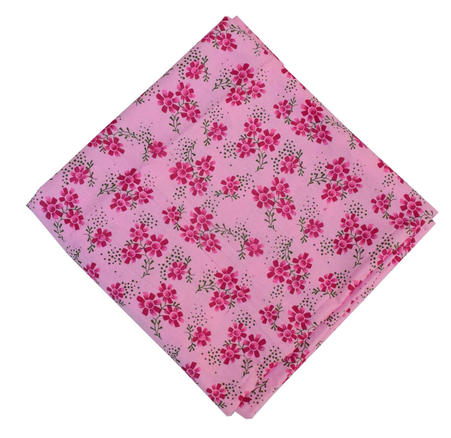 Pure Cotton Pink Printed Fabric PC583 1