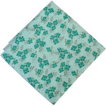 Pure Cotton Green Flowers Printed Fabric PC584