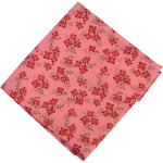 Pure Cotton Peach Printed Fabric PC585