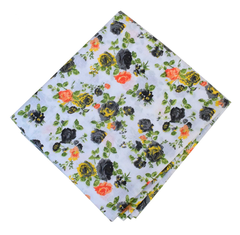 Black Roses Print Pure Cotton Fabric PC586 1