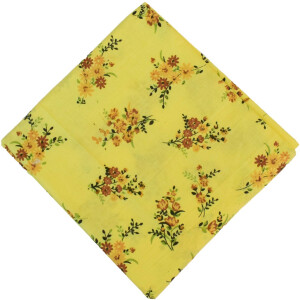 100% Pure Cotton Fabric in Yellow Colour PC591