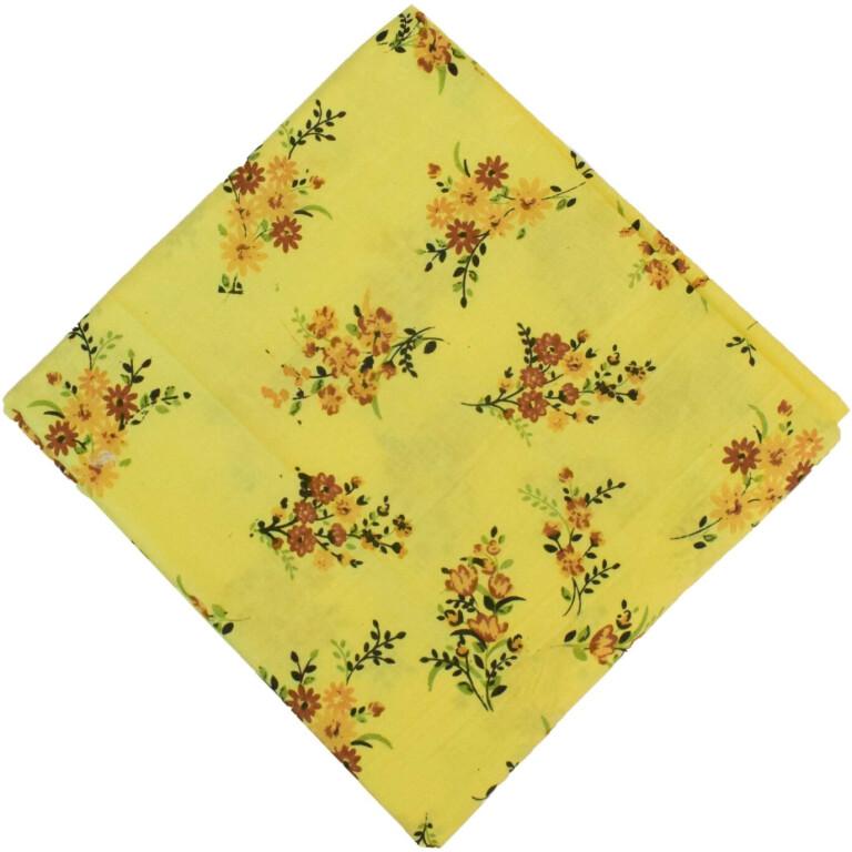 100% Pure Cotton Fabric in Yellow Colour PC591