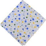 Multicolour Polka Print Pure Cotton Fabric PC592