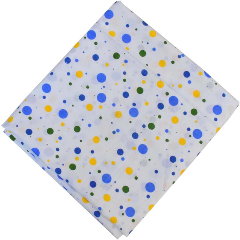 Multicolour Polka Print Pure Cotton Fabric PC592