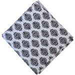 White Black Print Pure Cotton Fabric PC596